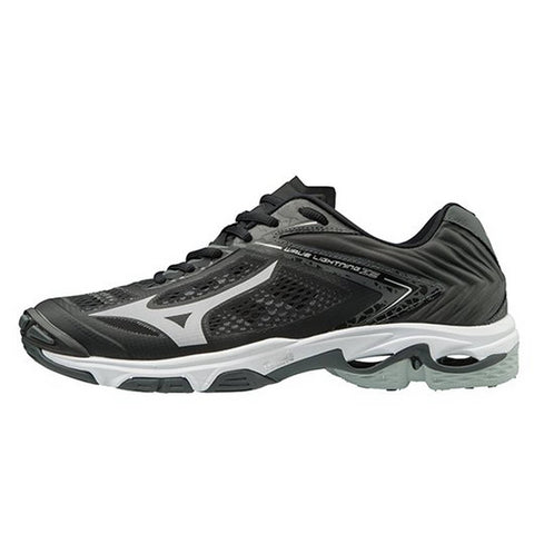 Mizuno Wave Lightning Z5 Womens Volleyball Shoes - Black Silver - HIT A Double