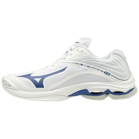 Mizuno Wave Lightning Z6 Mens Volleyball Shoes - White Navy - HIT A Double