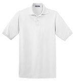 Jerzees 437M Spotshield 56-Ounce Jersey Knit Sport Shirt - White - HIT A Double