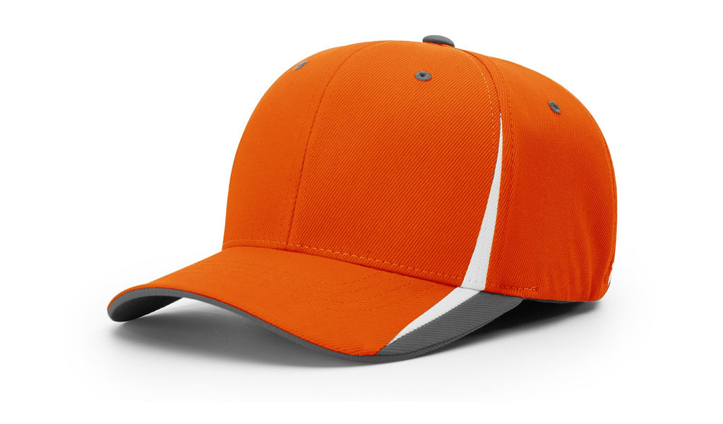 Richardson 439 Triple Color R-Flex Cap - Orange White Charcoal