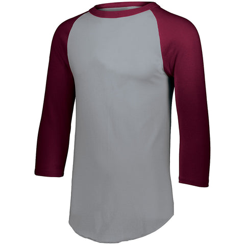 Augusta 4420 Baseball Jersey 2.0 - Athletic Heather Maroon - HIT A Double
