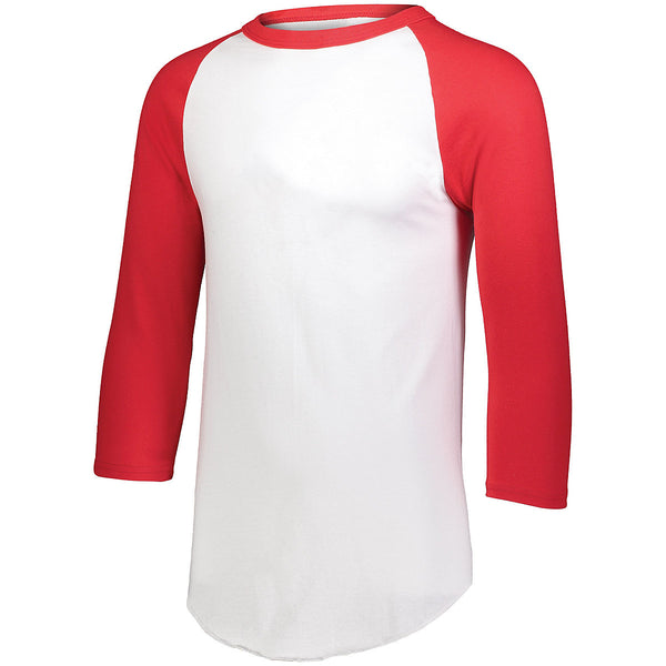 Augusta 4420 Baseball Jersey 2.0 - White Red - HIT A Double