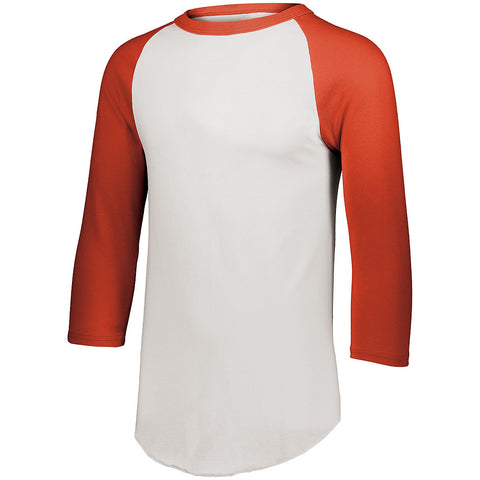 Augusta 4420 Baseball Jersey 2.0 - White Orange - HIT A Double