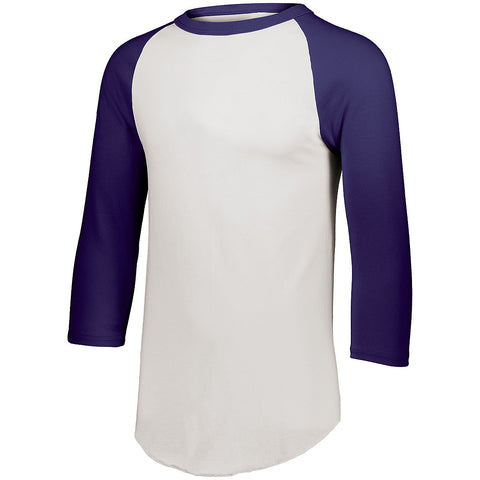 Augusta 4420 Baseball Jersey 2.0 - White Purple - HIT A Double