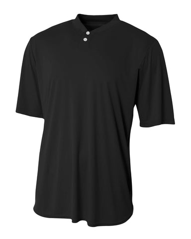 A4 N3143 Tech Performance Henley - Black - HIT A Double