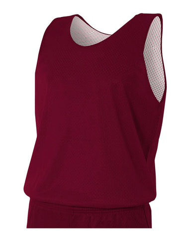 A4 N2206 Youth Reversible Mesh Tank - Maroon White