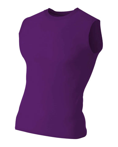 A4 N2306 Compression Muscle Tee - Purple