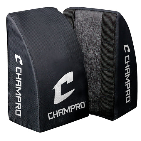 Champro CG28B Catcher's Knee Support Youth Black Pair - Black