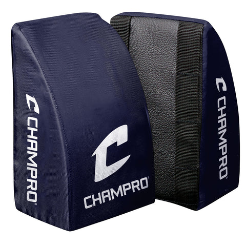 Champro CG28N Catcher's Knee Support Youth Navy Pair - Navy
