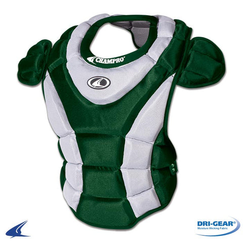 Champro CP65 Women's Chest Protector 16.5 - Forest Green