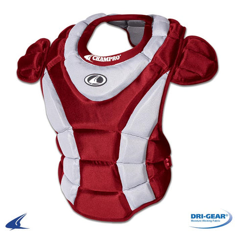 Champro CP66 Girl's Chest Protector 15 - Scarlet - HIT A Double