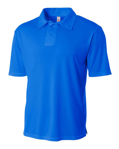 A4 N3261 Solid Interlock Performance Polo - Royal