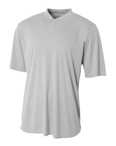 A4 N3143 Tech Performance Henley - Silver - HIT A Double