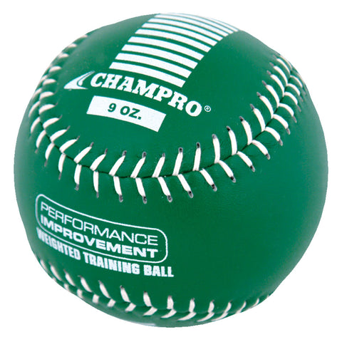 Champro CSB709-CSB712 Weighted Training Softballs  9 oz - Kelly Green