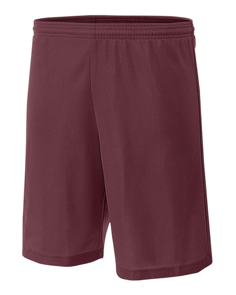 "A4 N5255 9"" Lined Micromesh Shorts - Cardinal"