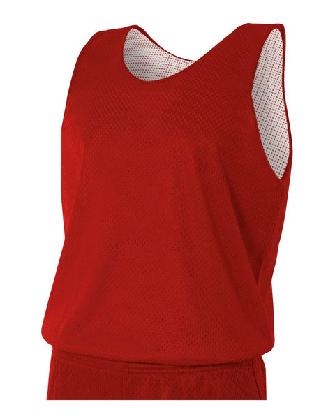 A4 N2206 Youth Reversible Mesh Tank - Scarlet White