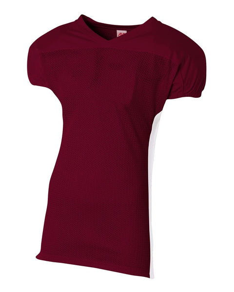 A4 N4205 Titan 4-Way Stretch Football Jersey - Maroon White