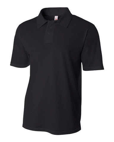 A4 N3262 Textured Performance Polo - Black
