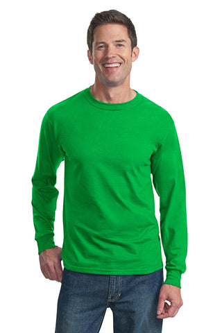 Fruit of the Loom 4930 HD Cotton 100% Cotton Long Sleeve T-Shirt - Kelly - HIT A Double
