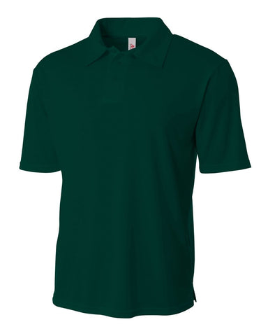 A4 N3261 Solid Interlock Performance Polo - Forest
