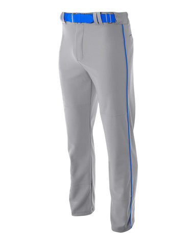 A4 N6162 Pro Style Open Bottom Baggy Cut Baseball Pant - Gray Royal