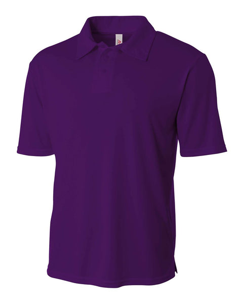 A4 N3261 Solid Interlock Performance Polo - Purple