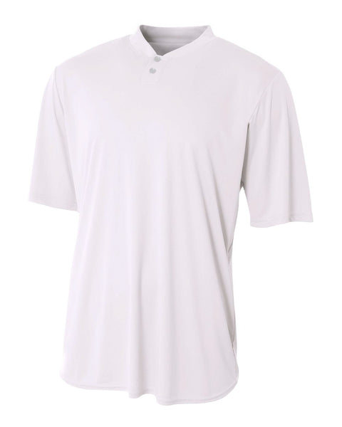 A4 N3143 Tech Performance Henley - White - HIT A Double