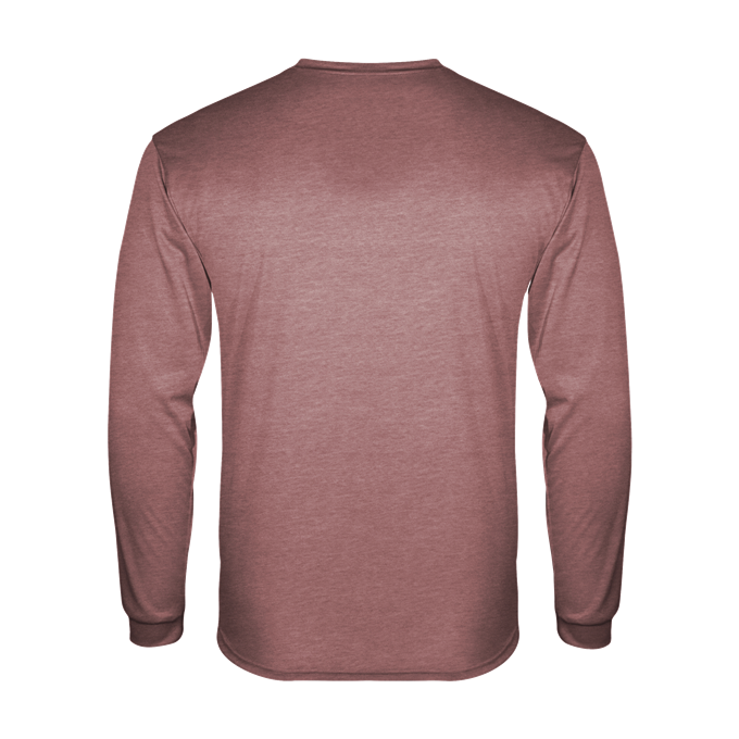 Badger 4944 Tri-Blend Long Sleeve Tee - Maroon Heather - HIT A Double