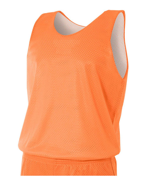 A4 N2206 Youth Reversible Mesh Tank - Orange White