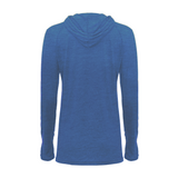 Badger 496500 Tri-Blend Surplice Women's Hood Tee - Royal Heather - HIT A Double