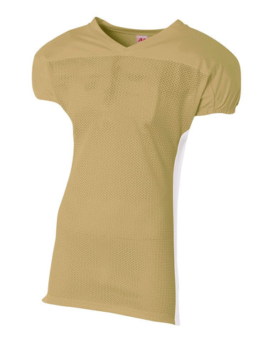 A4 NB4205 Youth Titan 4-Way Stretch Football Jersey - Vegas Gold White