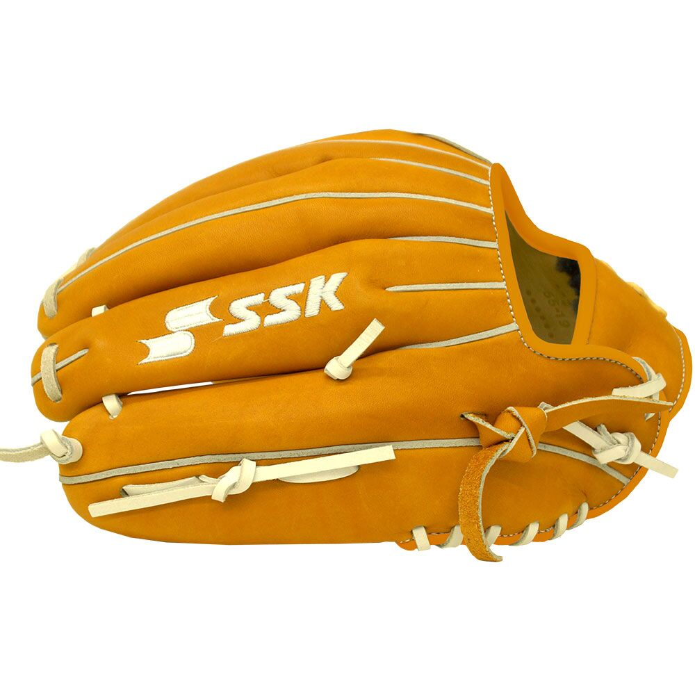 "SSK White Line Double-H Web 12.75"" Outfielder Glove - Camel White"