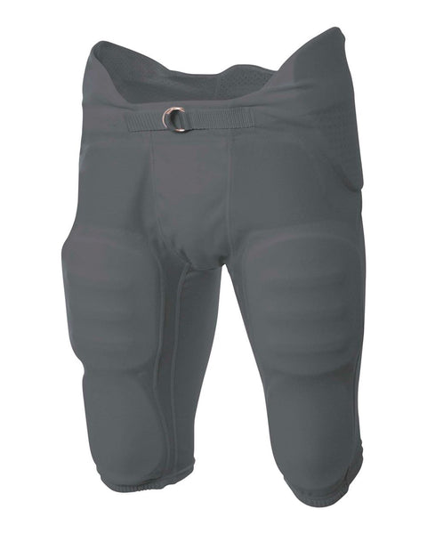 A4 NB6180 Youth Flyless Intergrated Football Pant - Graphite