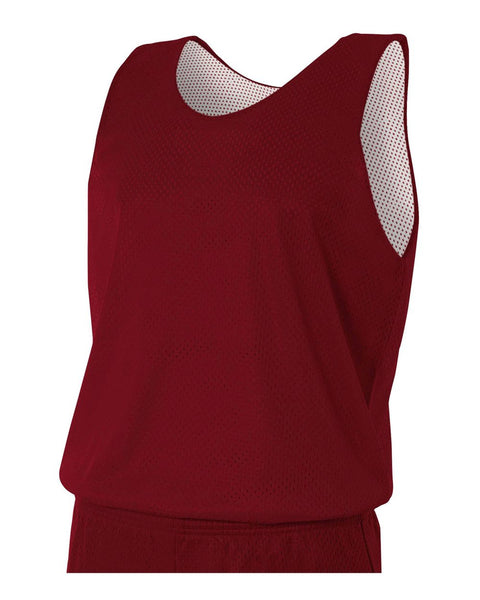 A4 N2206 Youth Reversible Mesh Tank - Cardinal White