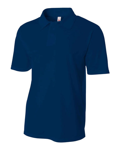 A4 N3262 Textured Performance Polo - Navy