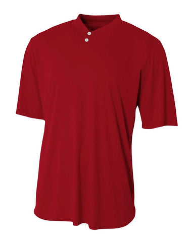 A4 N3143 Tech Performance Henley - Cardinal - HIT A Double
