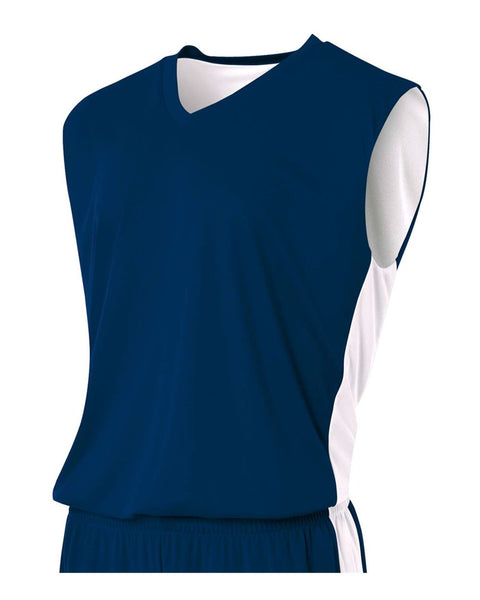 A4 N2320 Reversible Moisture Management Muscle - Navy White