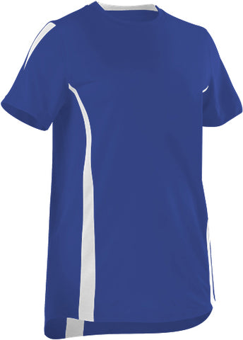 Alleson 506CAWY Girl's Fastpitch Crew Neck Jersey - Royal White