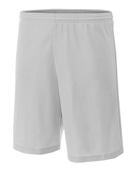"A4 NB5184 Youth 6"" Lined Micromesh Shorts - Silver - HIT A Double"
