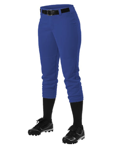 Alleson 605PBWY Girl's Fastpitch Pant - Royal