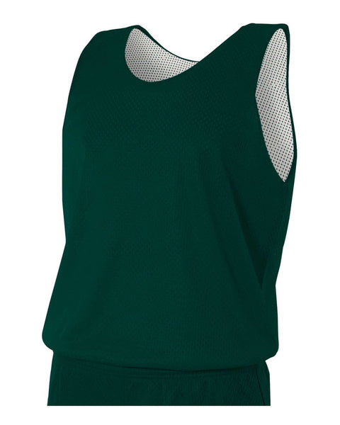 A4 N2206 Youth Reversible Mesh Tank - Hunter White