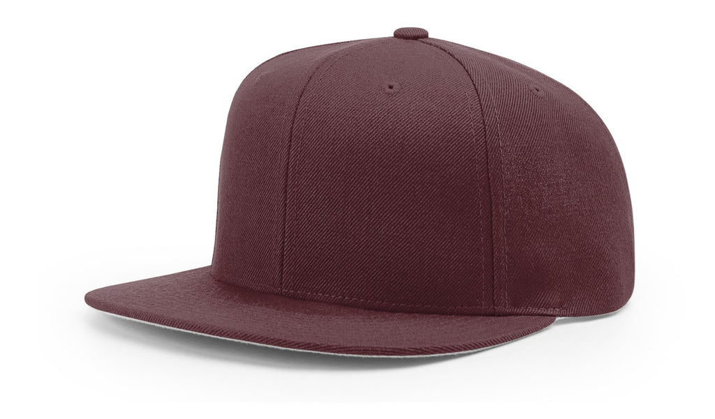 Richardson 510 Wool Flatbill Snapback Cap - Maroon - HIT A Double