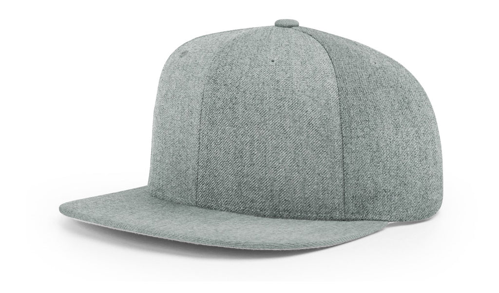 Richardson 510 Wool Flatbill Snapback Cap - Heather Grey
