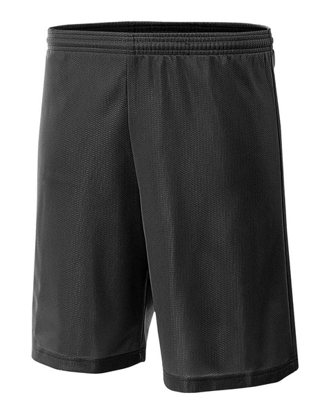 "A4 NB5184 Youth 6"" Lined Micromesh Shorts - Black"
