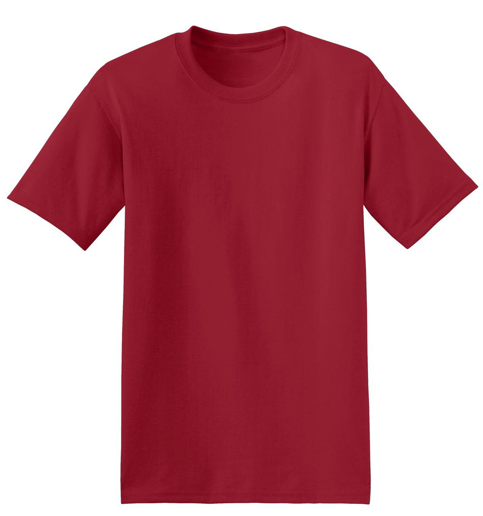 Hanes 5170 Ecosmart 50/50 Cotton/Poly T-Shirt - Deep Red - HIT A Double