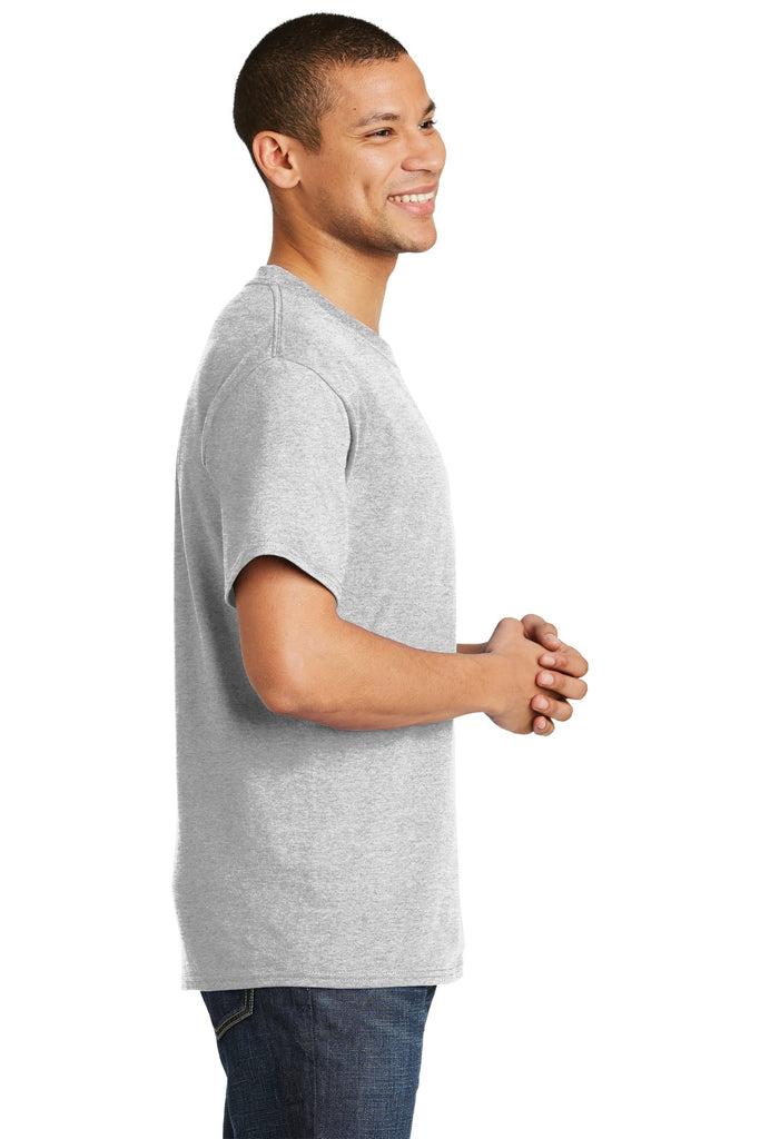 Hanes 5180 Beefy-T 100% Cotton T-Shirt - Ash - HIT A Double