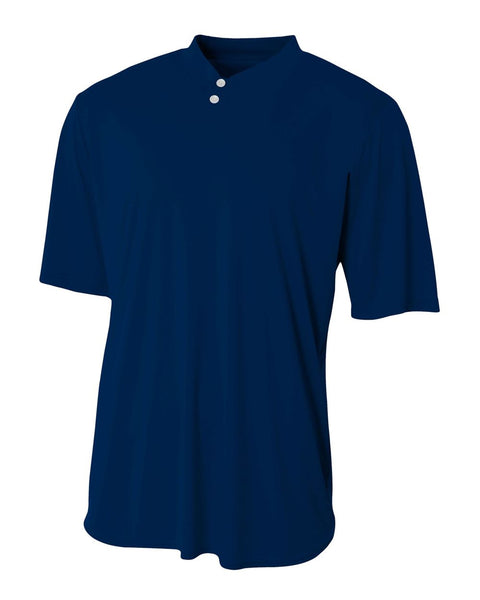 A4 N3143 Tech Performance Henley - Navy - HIT A Double