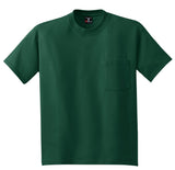 Hanes 5190 Beefy-T 100% Cotton T-Shirt with Pocket - Deep Forest - HIT A Double