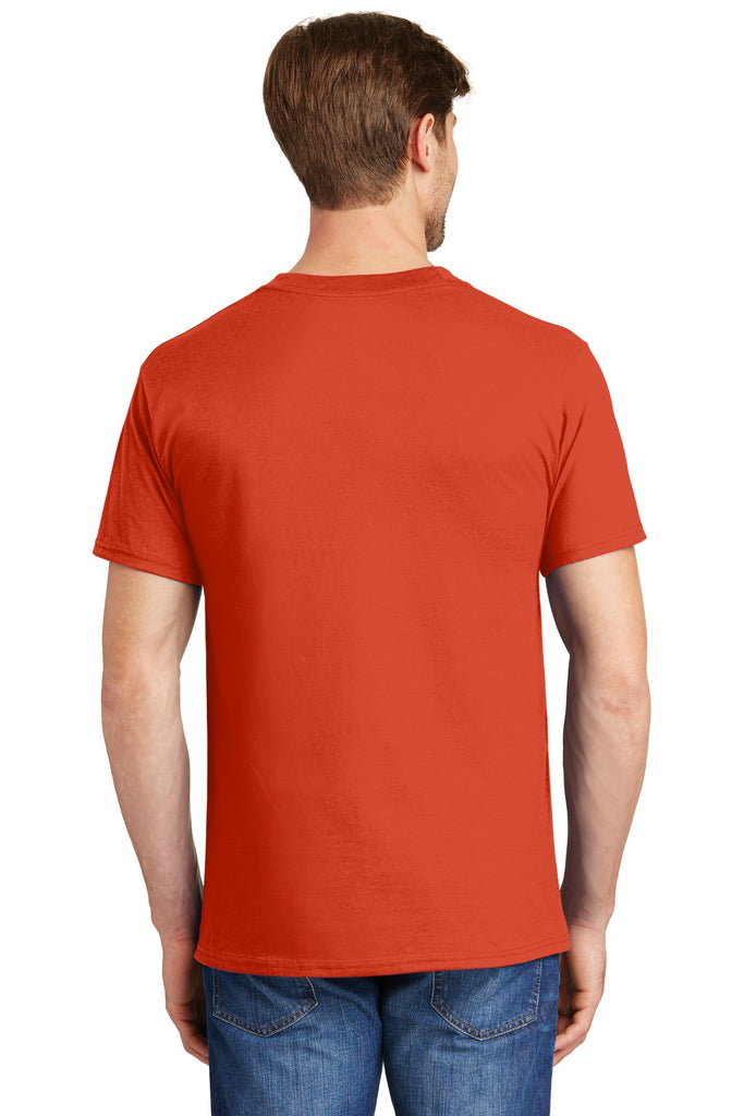 Hanes 5190 Beefy-T 100% Cotton T-Shirt with Pocket - Orange - HIT A Double