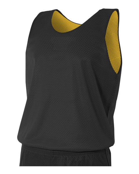 A4 N2206 Youth Reversible Mesh Tank - Black Gold